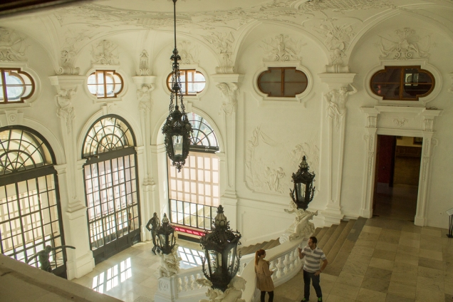 A grande escadaria do Alto Belvedere