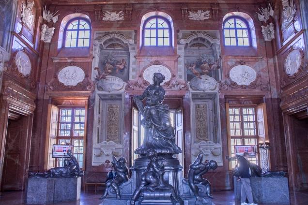 O Hall de Mármore do Baixo Belvedere