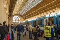 A estação de trem Keleti, em Budapeste