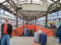 Plataforma da estação de Praga