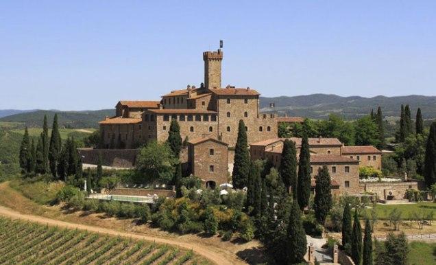 Castelo Banfi, em Montalcino