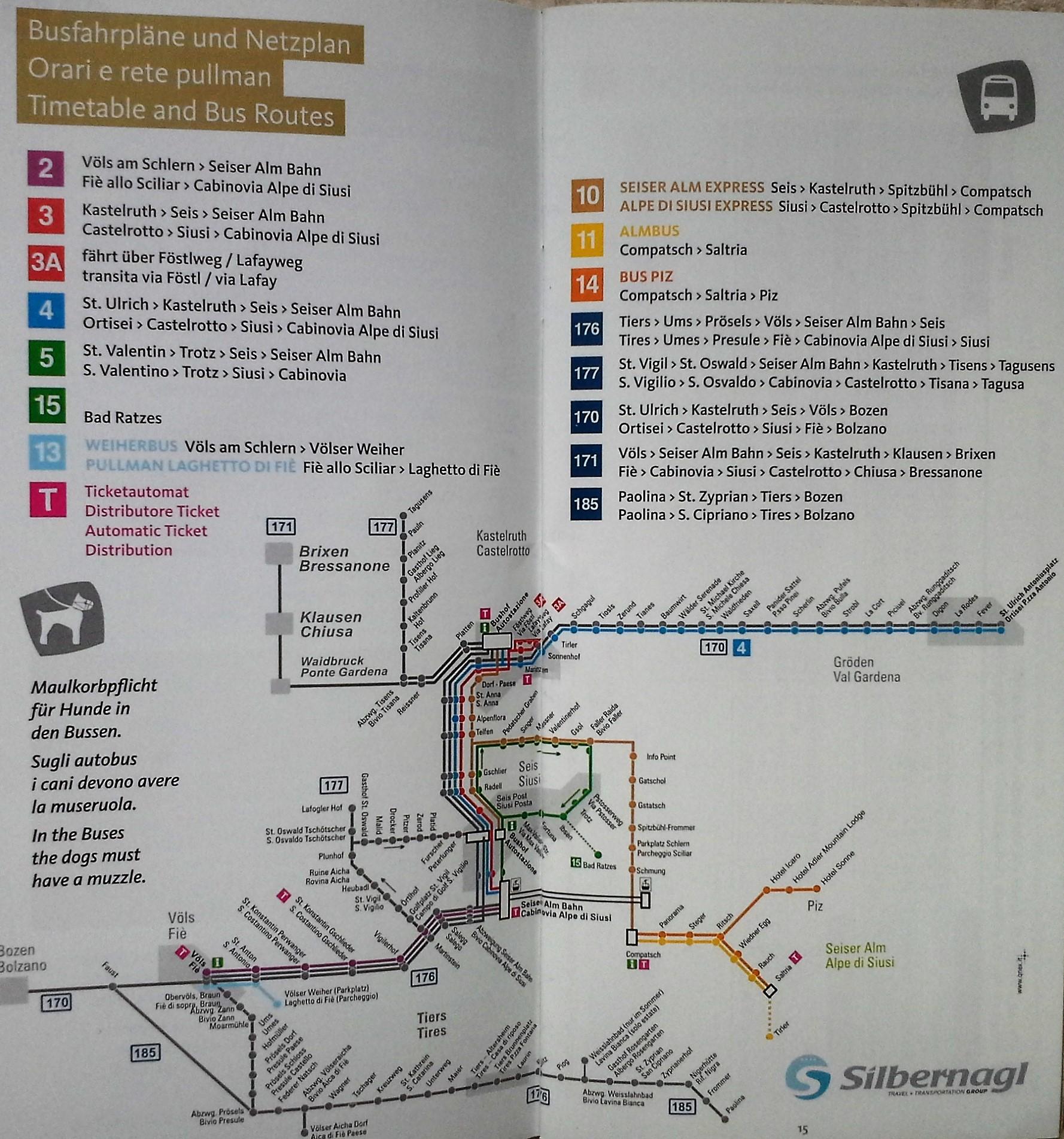 linhas de ônibus de Siusi