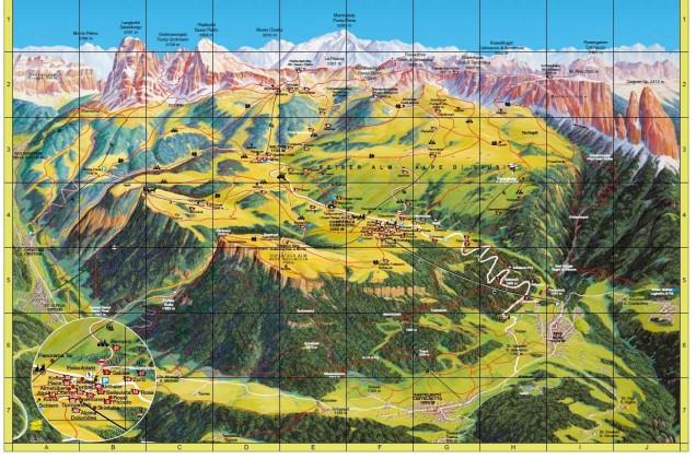 Alpe di siussi mapa foto