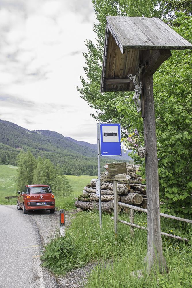 Nosso Fiat 500 L em Val di Funes