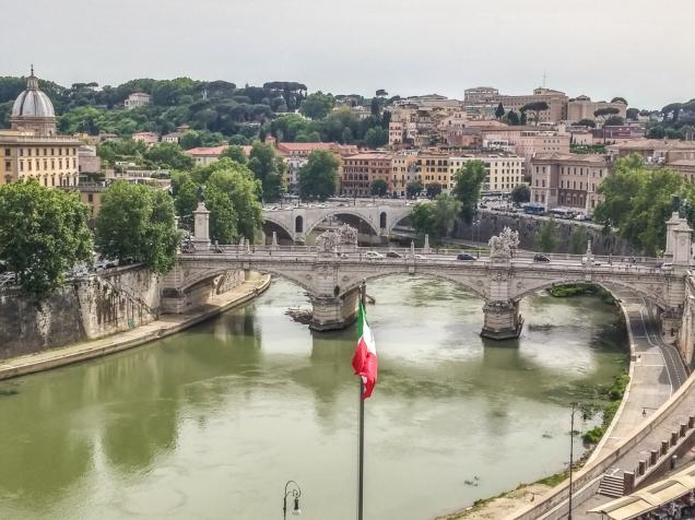 O rio Tibre visto do Castelo Sant'Angelo