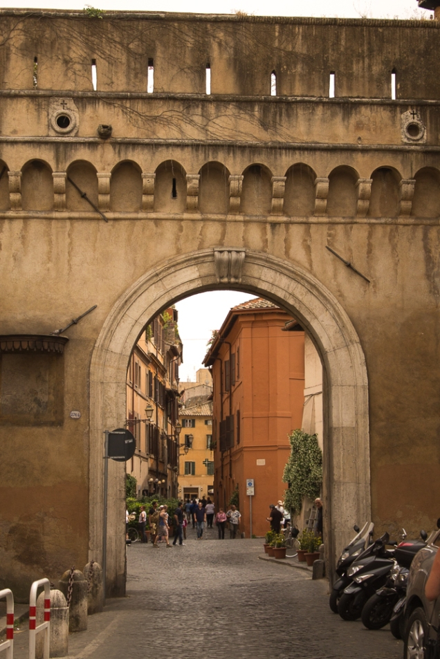 O portão de Trastevere