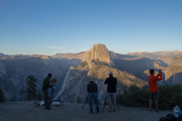 Glacier Point: mais perto delas