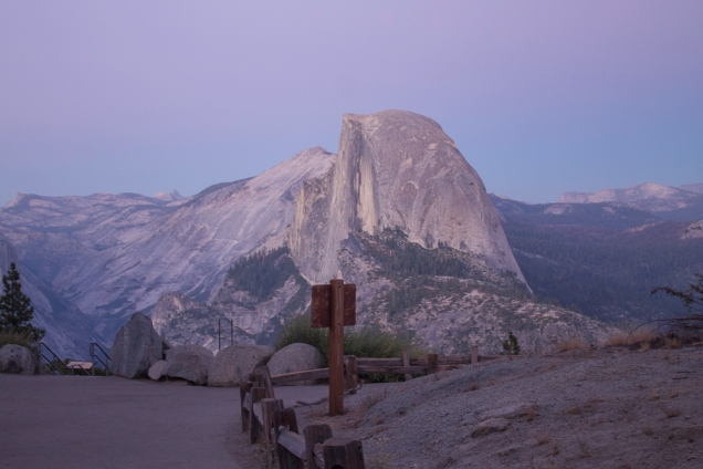 Glacier Point no por do sol