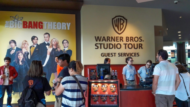 passeio nos estúdios da Warner