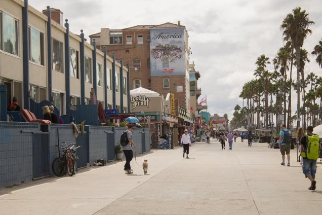 o Ocean Front Walk de Venice Beach