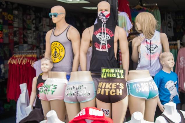 Tipo de mercadoria comercializada no Boardwalk de Venice Beach