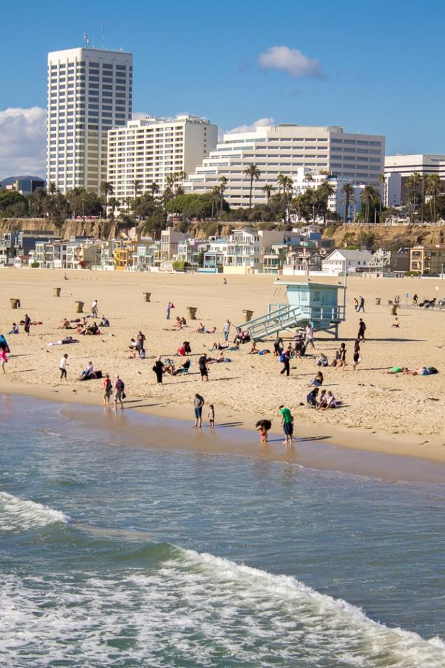Santa Monica a partir da roda gigante