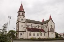 A Igreja Sagrado Coração, em Puerto Varas