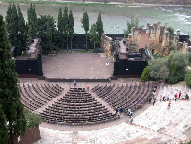 O Teatro Romano. Foto de Wikipedia