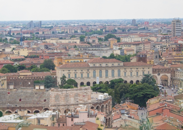 Verona vista do alto