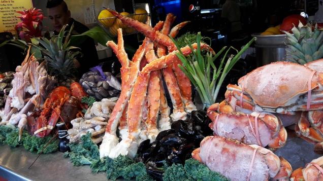 Vitrine de restaurante em Fisherman's Wharf