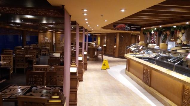 refeições no navio cruzeiro