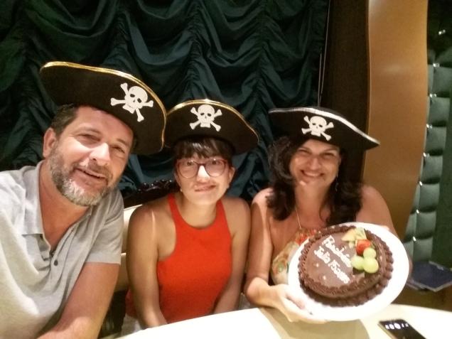 Aniversário no navio cruzeiro