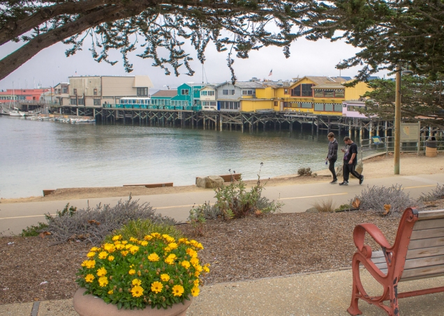 Coastal Trail nas proximidades de Fisherman's Wharf