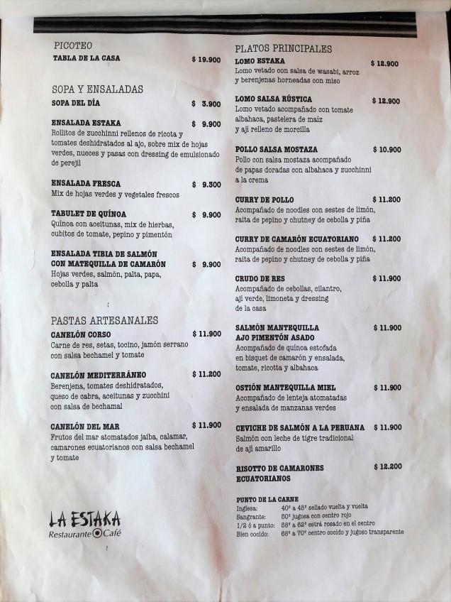pratos típicos Atacama