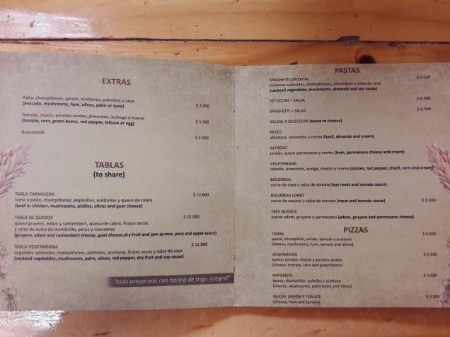 preços restaurantes Atacama