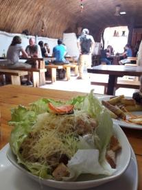A salada Caeser do Tierra, na Caracoles