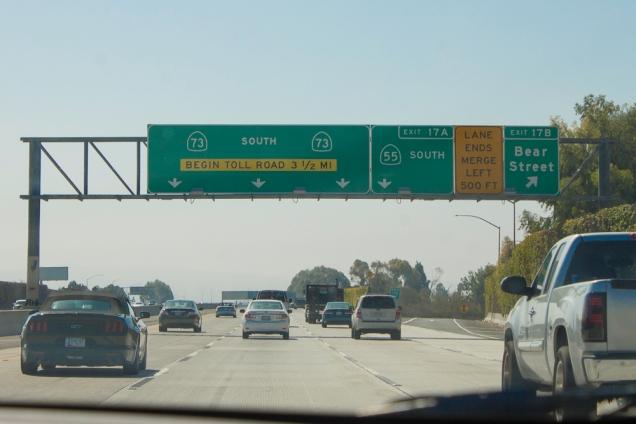 pedágio na Califórnia