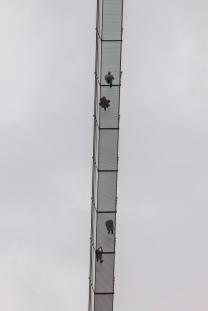 A Highline vista do estacionamento