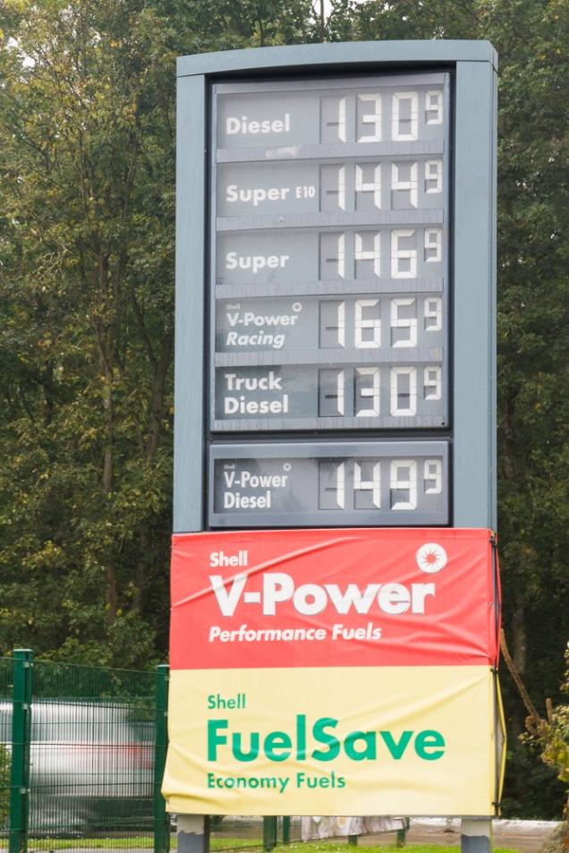 combustível na Alemanha postos de gasolina