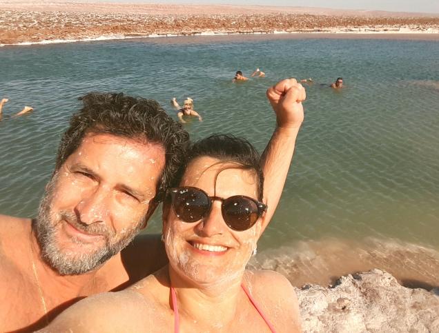 Lagoa que nao afunda sal Atacama