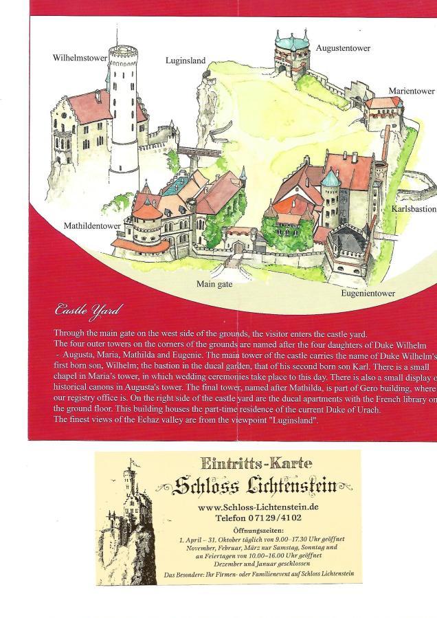 Lichtenstein castelo ingresso