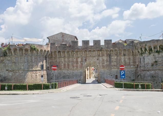cidade perto Siena e Florença