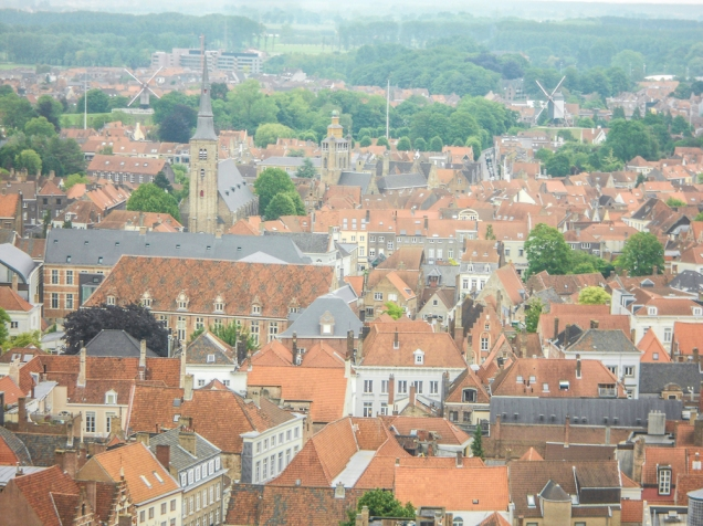 Bruges vista Campanário torre