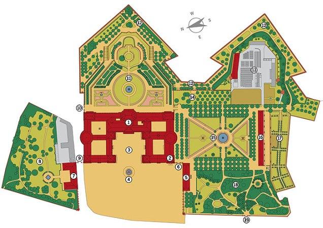Wurzburg palácio jardim