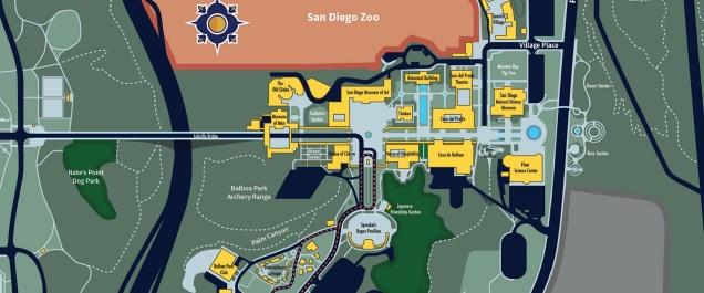 San Deigo Balboa mapa