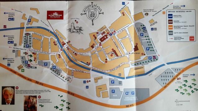 Kaysersberg mapa turístico