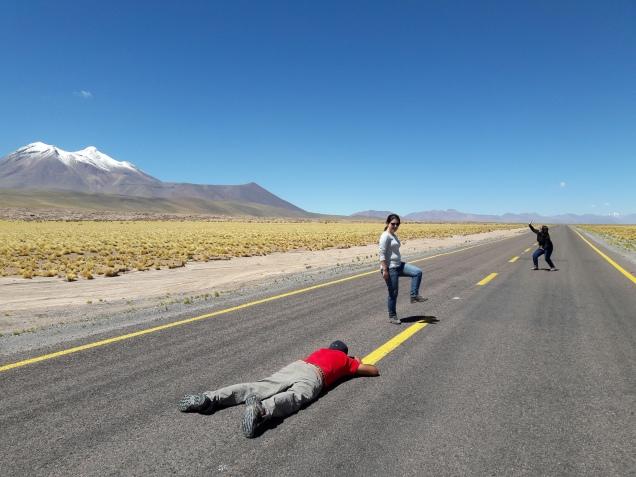 estrada deserto Atacama