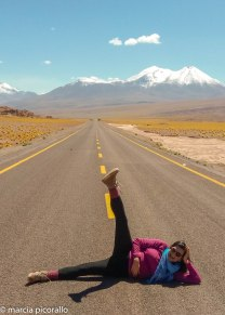 Atacama foto no meio da estrada