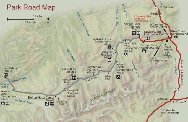 Denali Alasca mapa