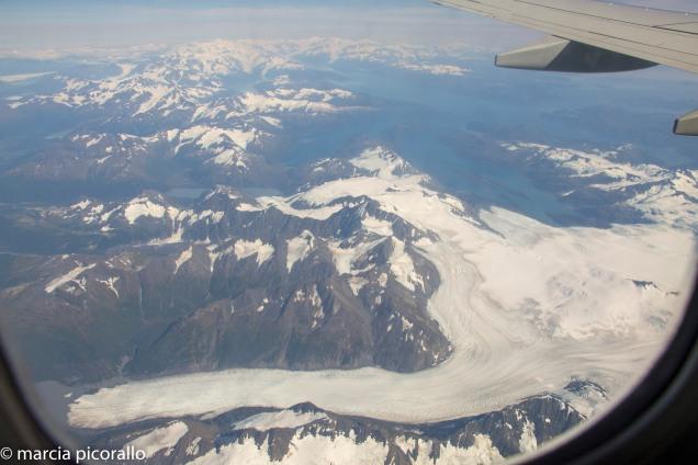 alasca geleira avião