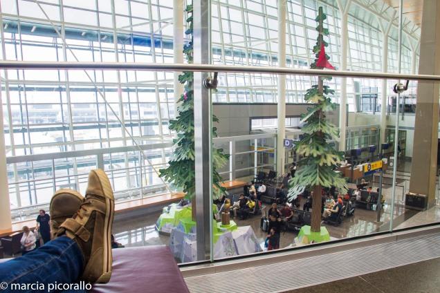 Calgary aeroporto guarda volumes Canada
