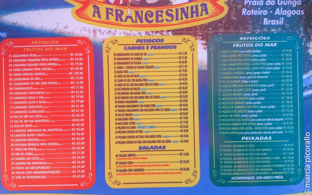 onde comer praia Gunga