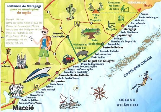 praias Maceió a MAragogi