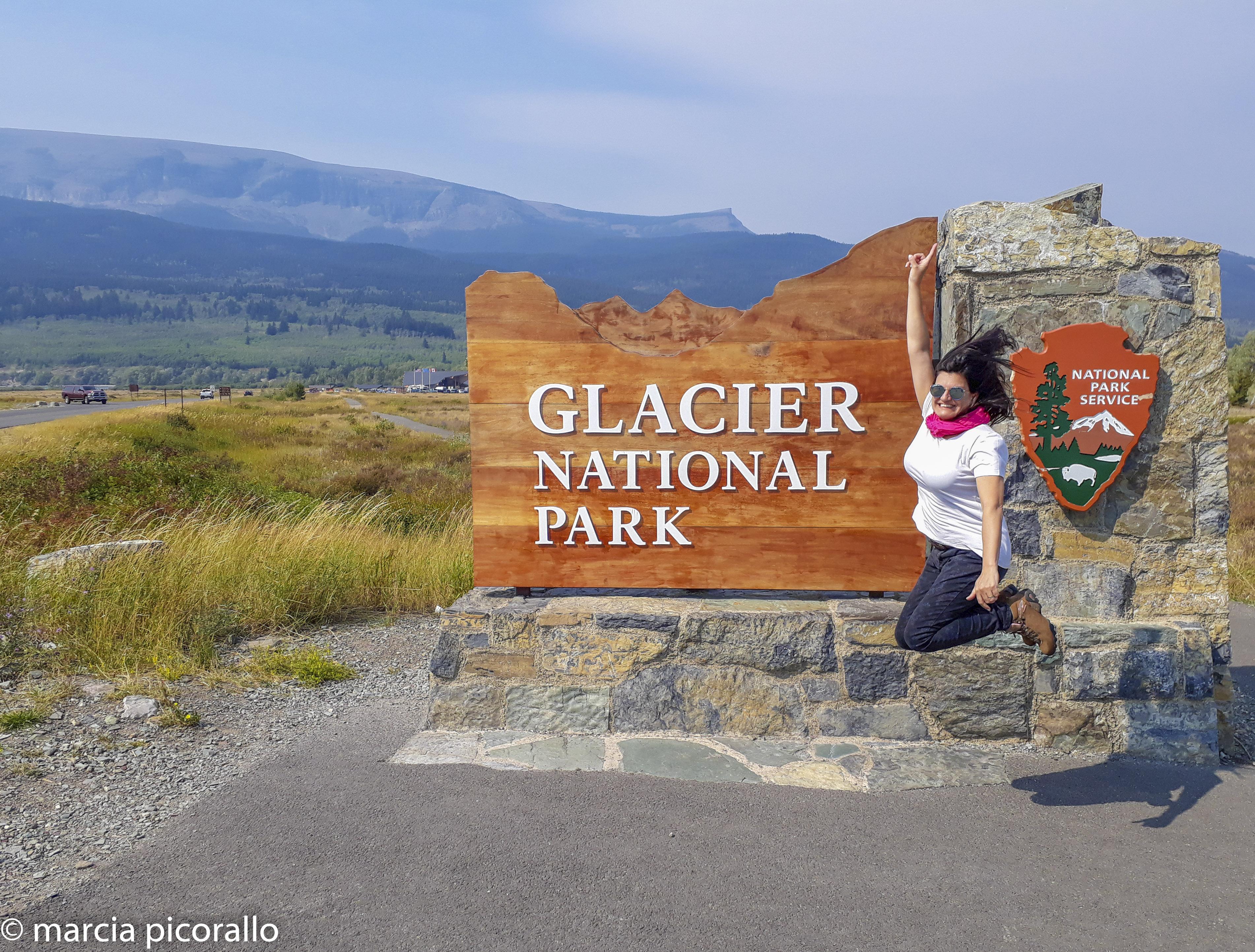 montanhas rochosas estados unidos placa glacier park