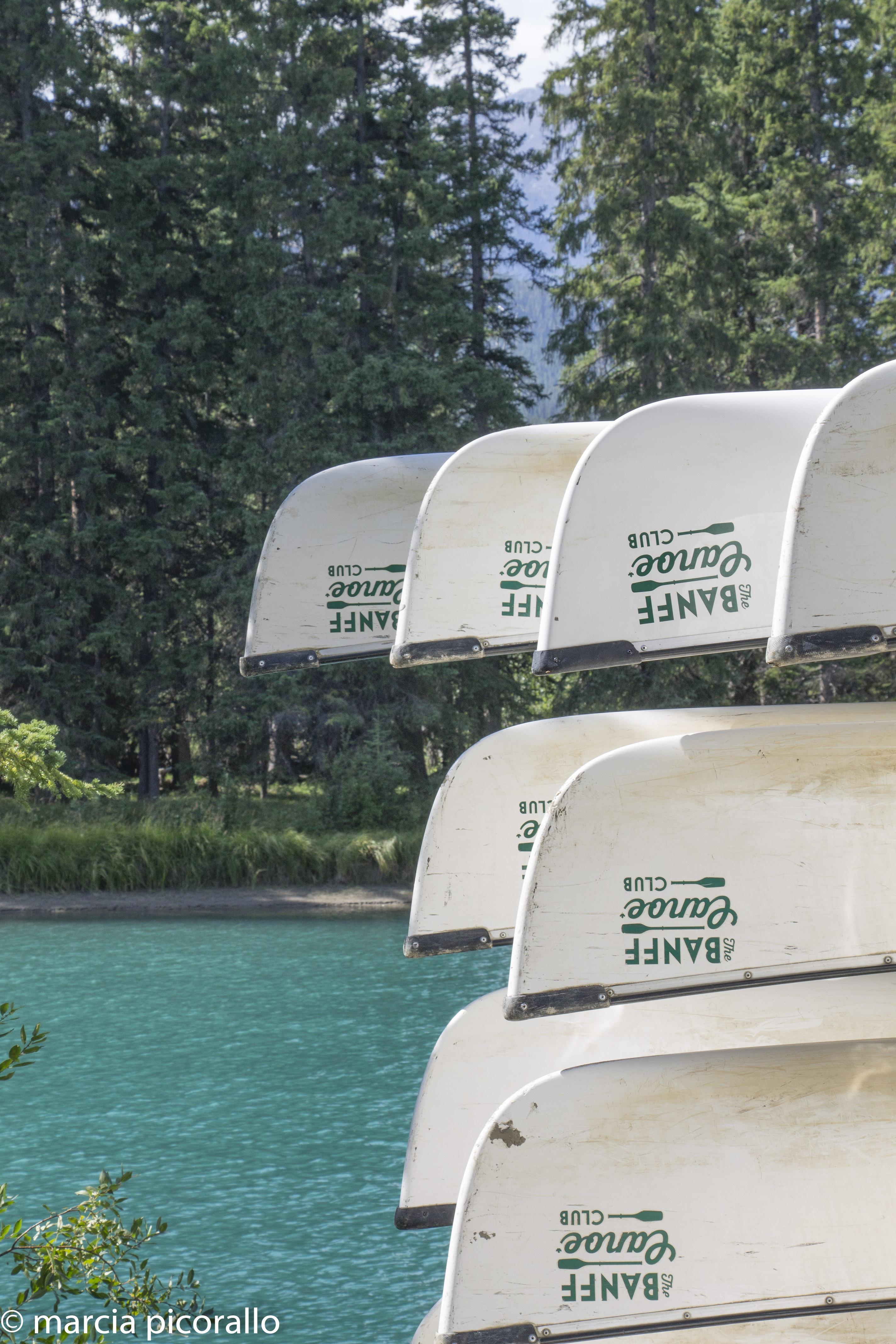 bow river canoa Banff